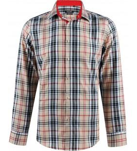 Chemise slim fit à carreaux tartans