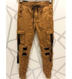pantalon cargo carmel/blanc/noir/khaki