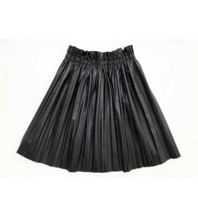 jupe plissée similicuir